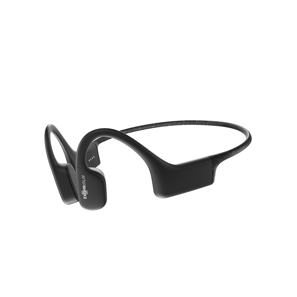 【送運動水壺】Aftershokz AS700 骨傳導MP3運動耳機(曜石黑)