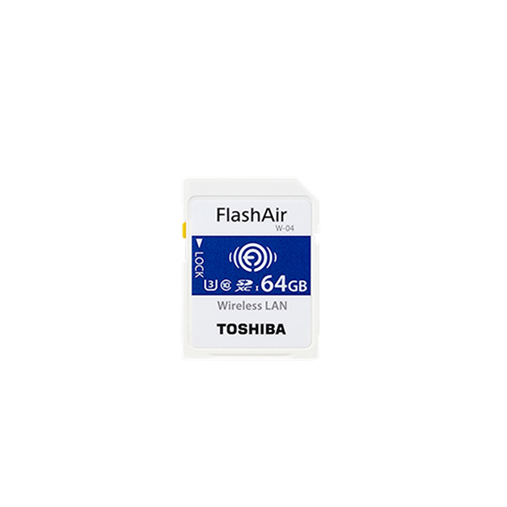 TOSHIBA FlashAir WIFI SDHC 64G W-04 記憶卡